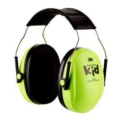 PELTOR 3M KIDS Neongrön Hörselskydd
