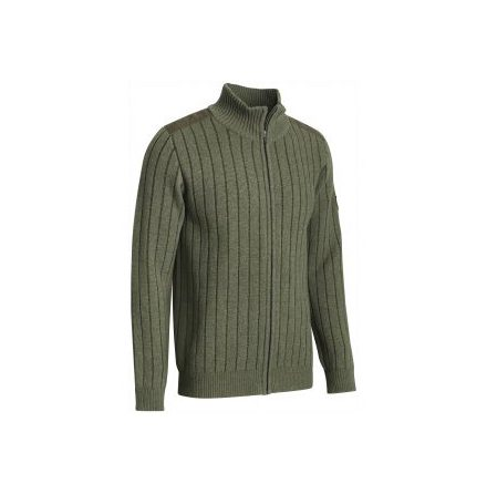 Chevalier Fjord Plated Wool Cardigan Green