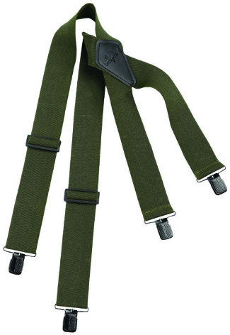 Swedteam Suspenders/Clips Hunting Green