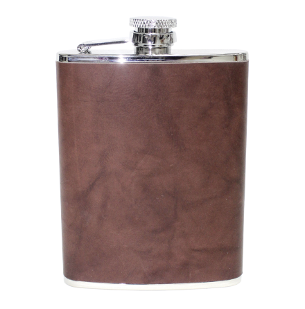 Fritzmann Stainless Steel Hip Flask With Leather