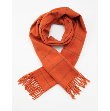 Laksen Woodland Scarf - Orange with Green