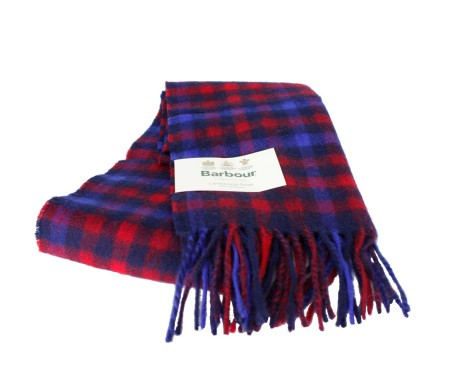 Barbour Mini Tattersall Scarf Navy/Red