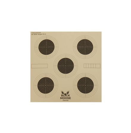 Black moose Shooting Target: 5 rings