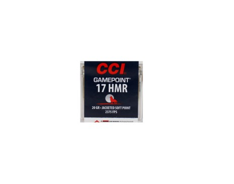 CCI gamepoint 17HMR 20grain