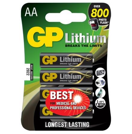 GP AA Lithium 1.5V 4-pack