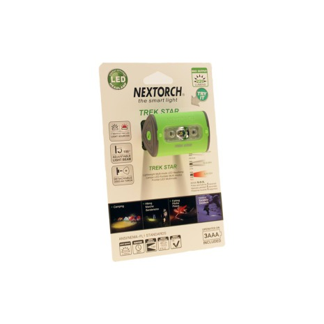 Nextorch pannlampa 220 lm green