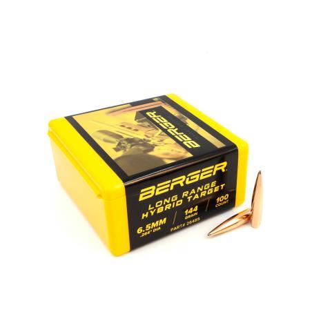 Berger 6,5mm 144gr Long Range Hyb.Targ 100st