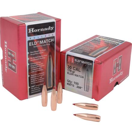 Hornady ELD MATCH .30 178gr 100st