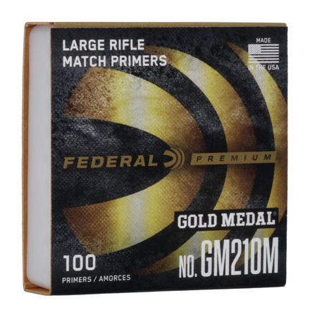 Federal Primers Large Rifle Gold Medal Match No 210