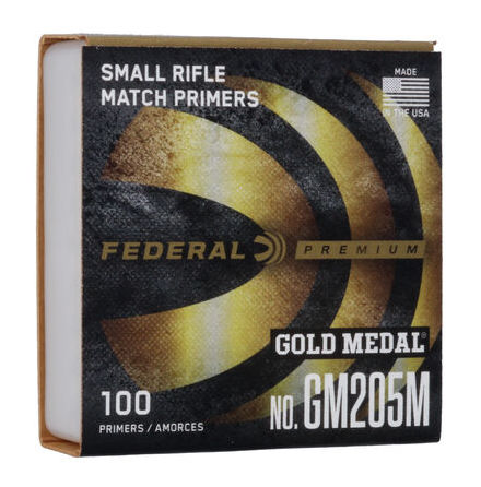 Federal Primers 205 Small Rifle Gold Medal Match