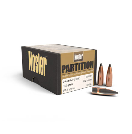 Nosler Partition .30 150gr 50st