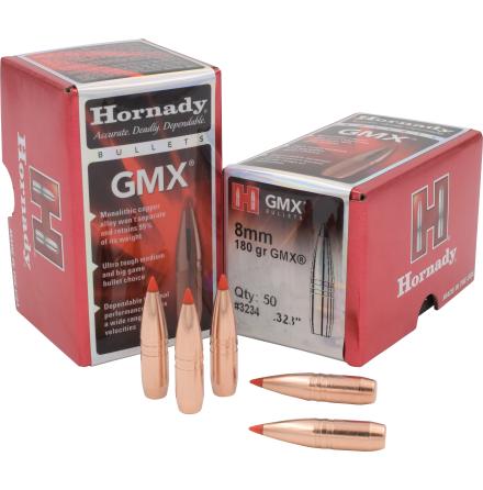 Hornady GMX 8mm/.323 180gr 50st