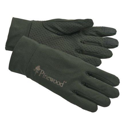 Pinewood Thin Liner Glove Moss Green M-L