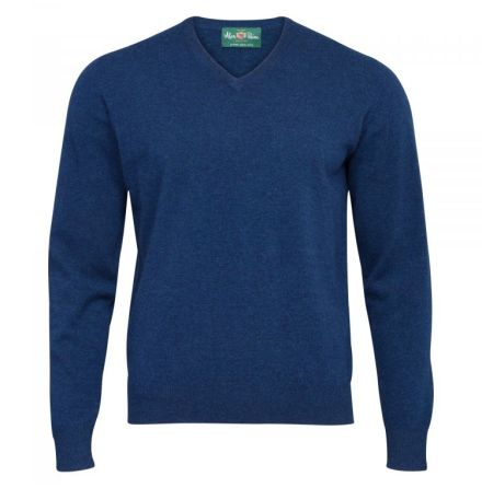 Alan Paine Albury V-Neck Indigo 48