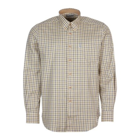 Barbour SP Tattersall Shirt Navy/Olive S
