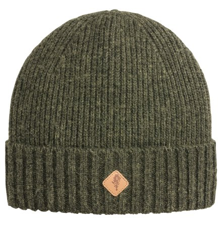Pinewood Wool Knitted Hat Mossgreen Melange