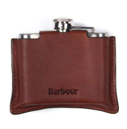 Barbour 4oz Hipflask Brown