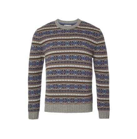 Chevalier Moss Sweater Stone Grey Jacquard